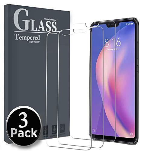 Ferilinso Cristal Templado para Xiaomi Mi 8 Lite, [3 Pack] Protector de Pantalla Screen Protector para Xiaomi Mi 8 Lite