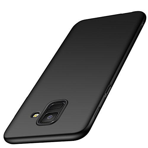 """deconext Custodia per Samsung A6(2018) Rigida Hard PC Cover Ultra Sottile Anti-Graffio Opaco Plastica Resistente Bumper Protettiva Cover Case per Samsung Galaxy A6(2018) 5.6"""" Liscio Nero"""