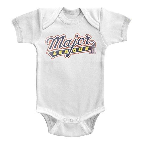 American Classics Film majeur comédie sports league baseball logo solide pause enfant snapsuit pour Bébé garçon 18 mois Blanc