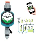 Qiumi Smart Life APP Mobile Remote Control, Automatic Garden Water Controller, Remote Irrigation Timer, Voice Direct Control, can be associated with Local Weather Forecast