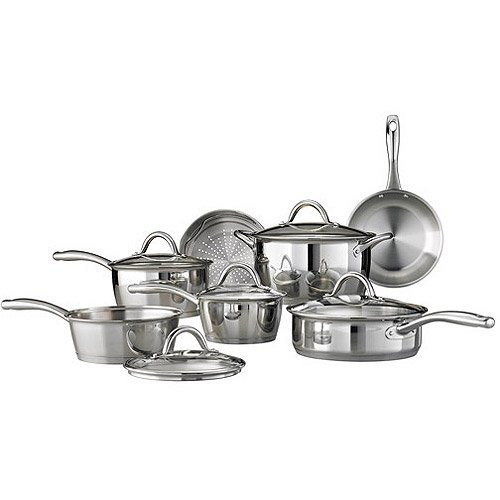 Tramontina 522 Gourmet Stainless Steel Tri-Ply Base Cookware Set
