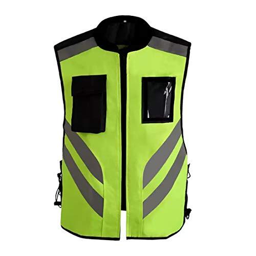 Sicurezza Vest Abbigliamento da lavoro Uniforme Alta visibilità maglia riflettente di sicurezza con Reflctor strisce for il lavoro, in bicicletta, Runner, Perito, Volontario, Addetto al traffico davan
