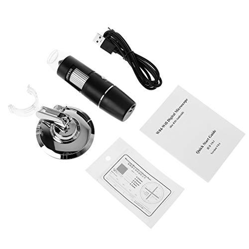 VIcoo WiFi 1000X Digitale microscoop 8-LED licht vergrootglas videocamera voor iPhone iOS/Android