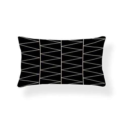 Rechteck Kissenbezug Geometrie Kissenbezug Nordic Style Dekoration Kissenbezüge Zickzack 30X50 Baumwolle Leinen nach Maß