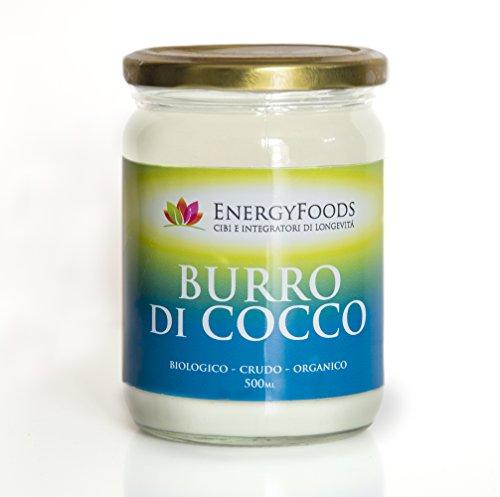 Burro di Cocco 100% Biologico, Crudo, Naturale, Vegano e Ricco di Fibre - Confezione da 500ml / Coconut butter 100% organic, raw, natural, vegan and rich in fiber - 500ml package