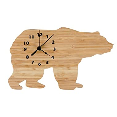 Trend Lab Wall Clock, Northwoods Bear