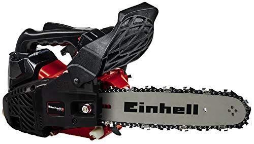 Einhell Tronçonneuse thermique GC-PC730I (puissance de 0,7kW, système anti-vibration, arbre de transmission à paliers latéraux, bouton d'amorçage, starter automatique, protection anti-rebond)