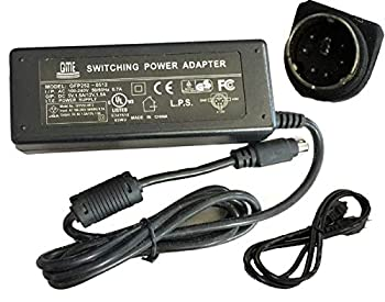 UpBright [UL Listed] 6-Pin DIN AC/DC Adapter Compatible with I/O Magic External Lightscribe DVD Burner Light Scribe DVD+R CD Writer 5VDC / 12VDC 6-Prong Power Supply Cord Battery Charger Mains PSU
