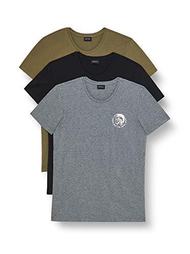 Diesel Umtee-randalthreepack Camiseta, E5239/0tanl, L para Hombre