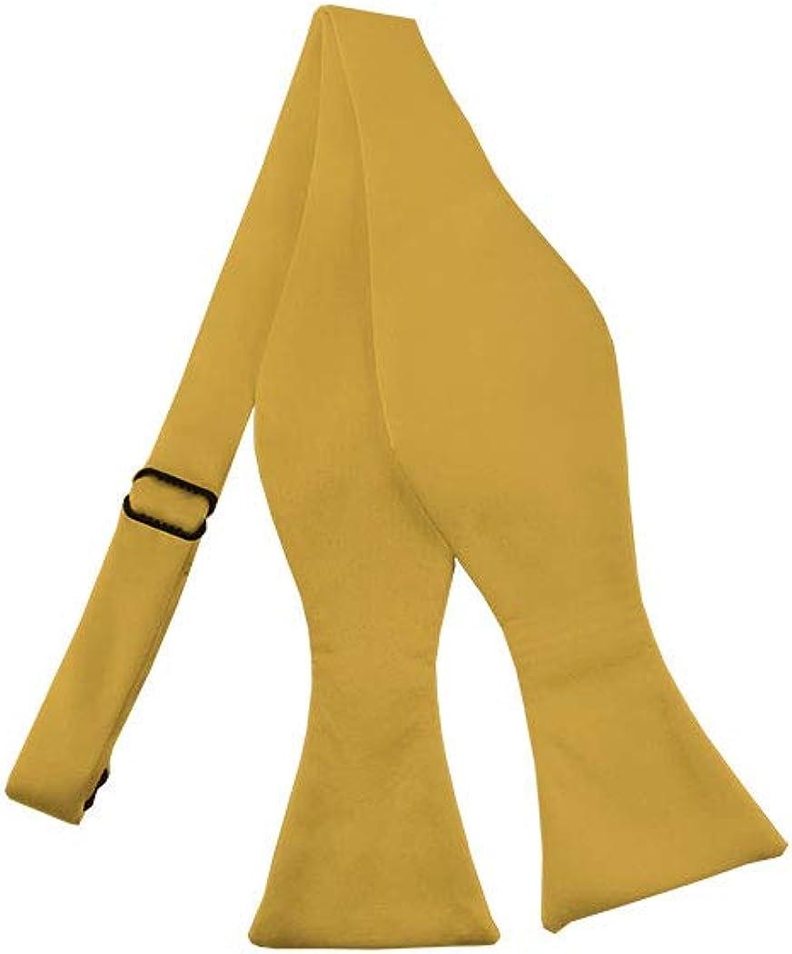 Solid Honey Gold Self-Tie Bow Tie