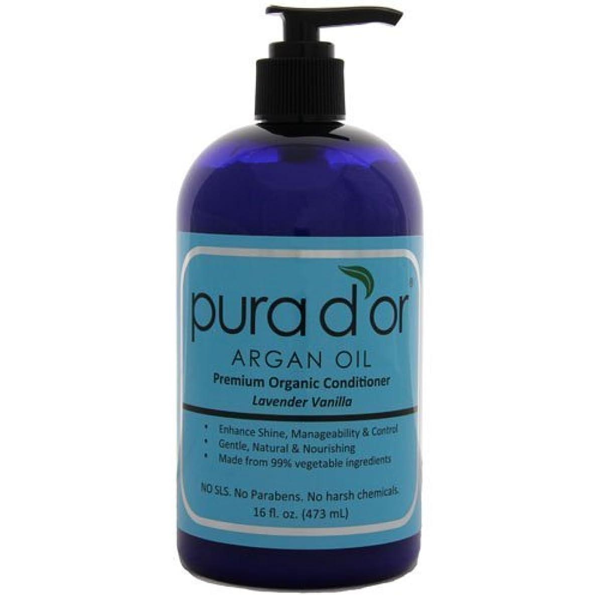 社会主義ケーブル無効Pura d'or: Premium Organic Argan oil Conditioner for Hair (16 fl. oz.) by Pura D'or [並行輸入品]