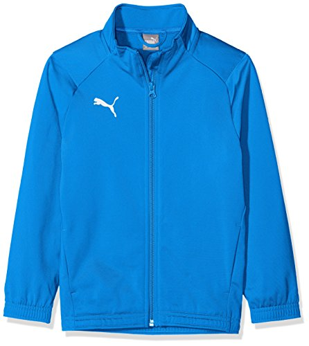 PUMA Jungen Liga Sideline Poly Jacket Core Jr Jacke, Electric Blue Lemonade White, 140