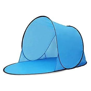 Gulin - Tente de plage pop-up - Protection UV - Résistante à l'eau - Ultra légère - Sac de transport inclus - Bleu