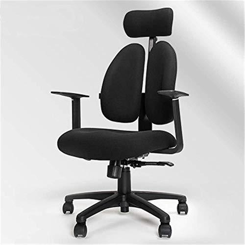 HongLianRiven Spielstuhl Computerstuhl Ergonomisch Stuhl Engineering Gaming Seat Spiel Drehstuhl Home Komfortables Bürostuhl Rückenstuhl Gaming Chair (Color : Black, Size : One Size)