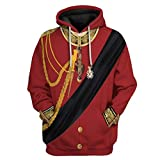 Historical Army Uniform Historical Celebrities Series 3D Printed Hoodie. THE BEST MATERIAL ★High-Quality Cotton Blended Fabric, Soft, Comfortable and Warm. High-Quality Fabrics Provide You With a Comfortable Wearing Experience Throughout The Year. UN...