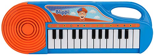 First Act Blippi Toy Keyboard, 11 Inch - 23 Keys, Fun Blue Portable Keyboard for Beginners, Preschoolers and Toddlers – Musical Instruments for Kids