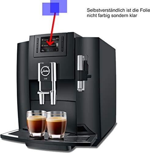 4ProTec I 2X Crystal Clear klar Schutzfolie für Jura E80 Piano Black 15083 Kaffeevollautomat Displayschutzfolie Bildschirmschutzfolie Schutzhülle Displayschutz Displayfolie Folie