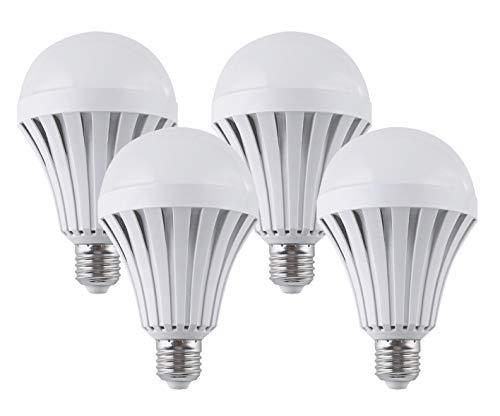 CTKcom Emergenc LED Light Bulbs 7W (4 Pack)-Household Lighting Bulbs Human Body Induction,Saving Energy Intelligent Light Rechargable Electricity 65W Equivalent 6000K White Bulb 120 Volt E26/E27