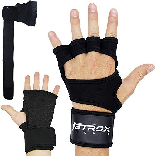 Netrox Handgelenkschutz Handgelenkbandage Handgelenkstütze Handgelenk Bandage Handgelenk Schutz Handgelenk Sütze Handschutz Hand Schutz Zughilfe Zug Hilfe (Schwarz, XS)