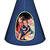 Costzon Kids Nest Swing Chair, Hanging Hammock Seat w/Adjustable Rope, 2 Windows and 1 Entrance, Hanging Tree Tent for Indoor Outdoor Use, 250LBS Capacity, All Accessories Included (Blue, 40'')