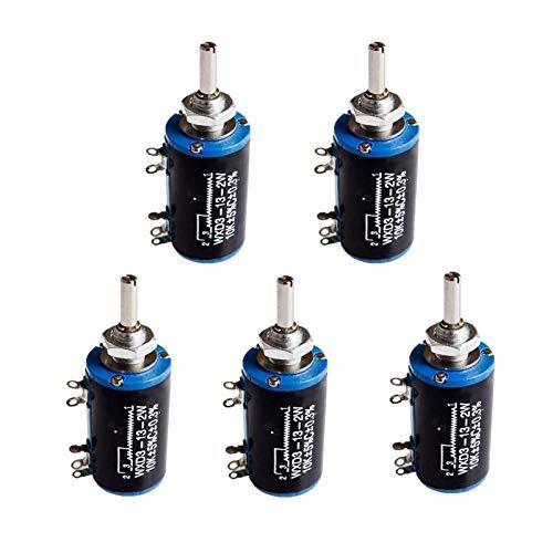 YSJJSQZ Interruptor Giratorio WXD3-13-2W 10K 100/220/470/680 Ohm WXD3-13 2W Wirewound Potenciómetro múltiple 1K 2.2K 4.7K 5.6K 6.8K 47K 100K Switch Rotary (Resistance : 5.6K Ohm)