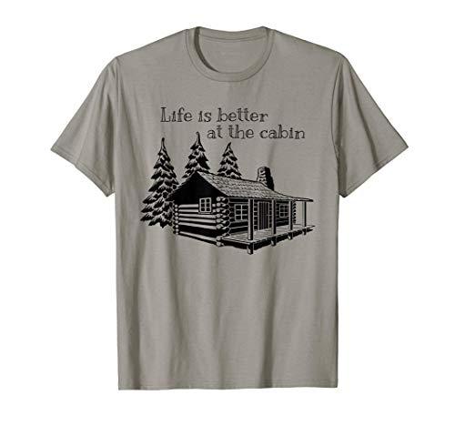 La vida es mejor en la cabaña Diseño lindo para campistas Camiseta
