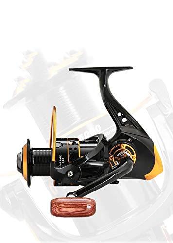 Carrete de pesca Carrete de la pesca 13 eje Full Metal Copa hilo de pescar Pesca Spinning Wheel Carrete Mar Rod Carrete de pesca artes de pesca Accesorios Nueva Serie-Silver_7000 Carretes de Spinning