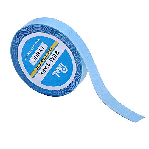 0.8cm×3 Yards Double Sided Adhesive Tapes Lace Front Support Tapes Water-Proof Tape for Wigs,Toupees,Hair Pieces,Hair Extension