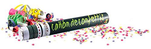 DISOK - Cañón Confeti 40 Cm - Lanzapetalos, Lanzador pétalos confetis, Cañon serpetina para Bodas, Fiestas, Baratos, Comprar Online