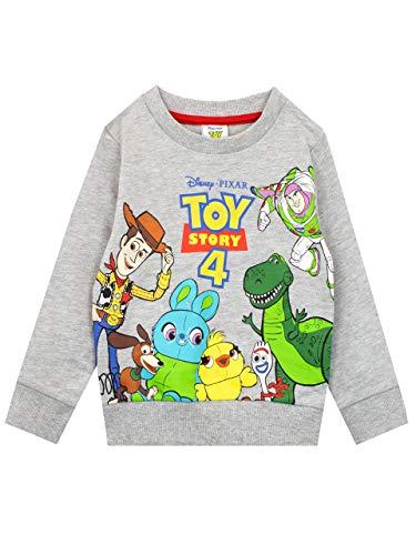 Disney Felpe Senza Cappuccio per Ragazzi Toy Story Grigio 5-6 Anni