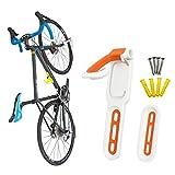 GORIX ゴリックス 自転車用壁掛けスタンド 縦置き 室内 (GX-WALL) [ ロードバイク他 サイクルスタンド 省スペース有効活用 ] オレンジ コンパクト