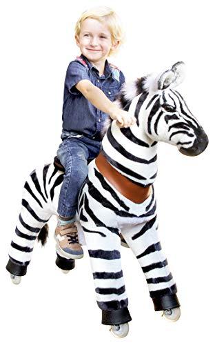 passend für PonyCycle Marty - Schaukelpferd - Kuscheltier auf Rollen - Inline - Kinder - Pony - Pferd - Reiten - Zebra - MyPony (Medium)