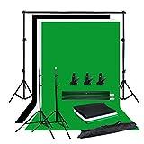Zhice Foto Estudio telón de Fondo Croma Kit Negro Blanco Pantalla Verde Pantalla de Fondo