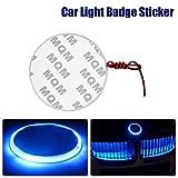 TOTMOX Car Light Badge Sticker, 82mm LED Badge Emblem Lamp Sticker for Auto Vehicle, Blue