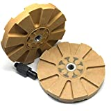 """2pc 4"""" Rubber Eraser Wheel for Adhesive Sticker Pinstripe Decal Graphic Remover"""