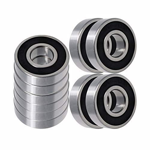 Raven Premium Quality 6205-2RS Ball Bearing 25x52x15mm, Pre-Lubricated, Rubber Sealed (10 Pack)