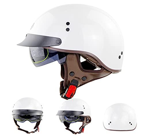 DXMRWJ Casco de Motocicleta Casco de Bicicleta eléctrica Flip Lente Oculta Adulto Masculino y Femenino Medio Casco de Bicicleta