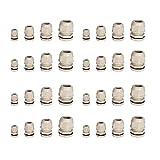 INIBUD Kabelverschraubung Set 8 Stück je M12, M16, M20, M25 grau mit Gegenmutter Kunststoff