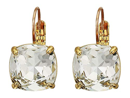 Kate Spade New York Small Square Leverbacks Earrings Clear One Size