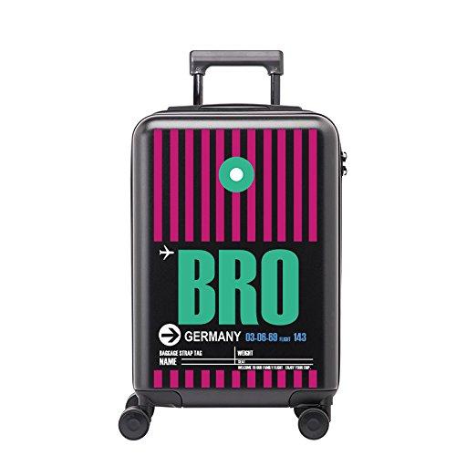 Equipaje Lyl Bolsa Ligera TSA Lock Trolley Maleta Dura de la PC de Viajes Shell Carry On Lugga (Color : Black, Size : 24 Inch)