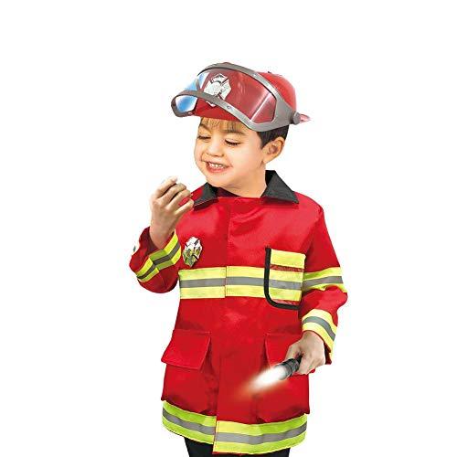 Banane Disfraz de jefe de bomberos para niños, juego de bombero, juego de bombero, regalo de bombero para niños de 3, 4, 5, 6 años realistas