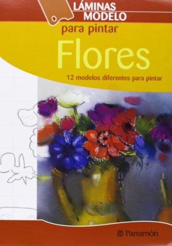 Láminas modelo para pintar flores