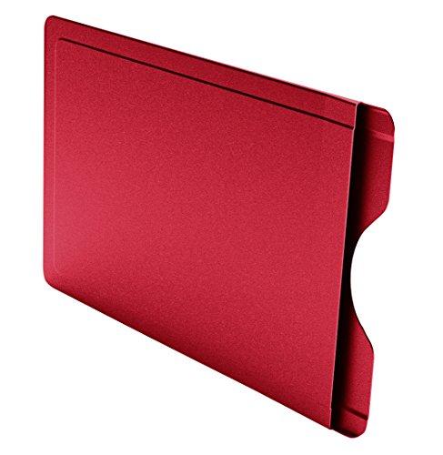 CardTresor Color Kartenschutzhülle aus Edelstahl in rot, RFID/NFC-Schutz