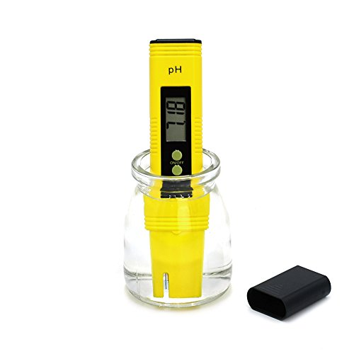 HiHydro PH Meter Digital PH Tester Pen for Household Drinking Water, Aquarium, Swimming Pools, Hydroponics, Water Quality, 0.01 / High Accuracy +/- 0.05 and 0.00-14.00 Measurement Range