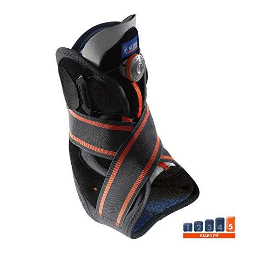 Stabilisierende Sprunggelenkbandage mit Boa®-Verschlusssystem von Thuasne Sport - Schwarz/Grau/Orange - Größe M