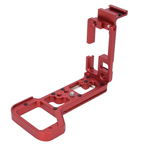 DAUERHAFT con Tornillos de Acero Inoxidable Zapata rápida de Metal, para S-Ony A7R4(Red)