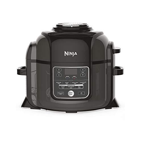 Ninja Foodi OP300EU Olla a presión y Freidora de aire, 6 litros, Negro y Gris