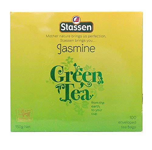 Stassen Pure Jasmine Green Tea, 100 Tea Bags (Pack of 24)