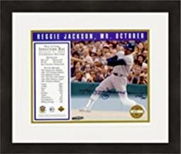 Signed Reggie Jackson Picture - 8x10 Hall of Fame Induction Upper Deck Certified Matted & Framed - Autographed MLB Photos
