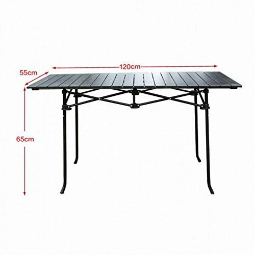 Outdoor klaptafel rechthoekige tafel lichtgewicht draagbare aluminium bureau campingtafel 94 x 54 x 50,5 cm, 94 x 64 x 67 cm, 120 x 55 x 65 cm (kleur: C) C